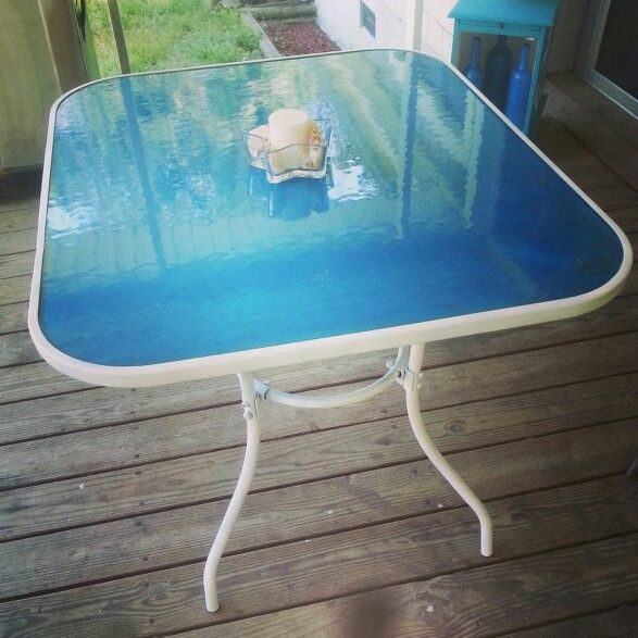 Can You Spray Paint Glass Table Top Brokeasshome Com