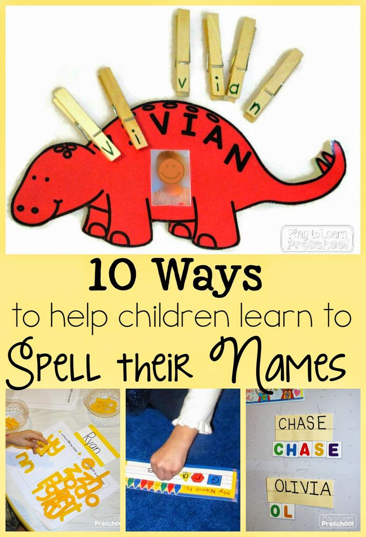 Spelling our Names – 10 Fun