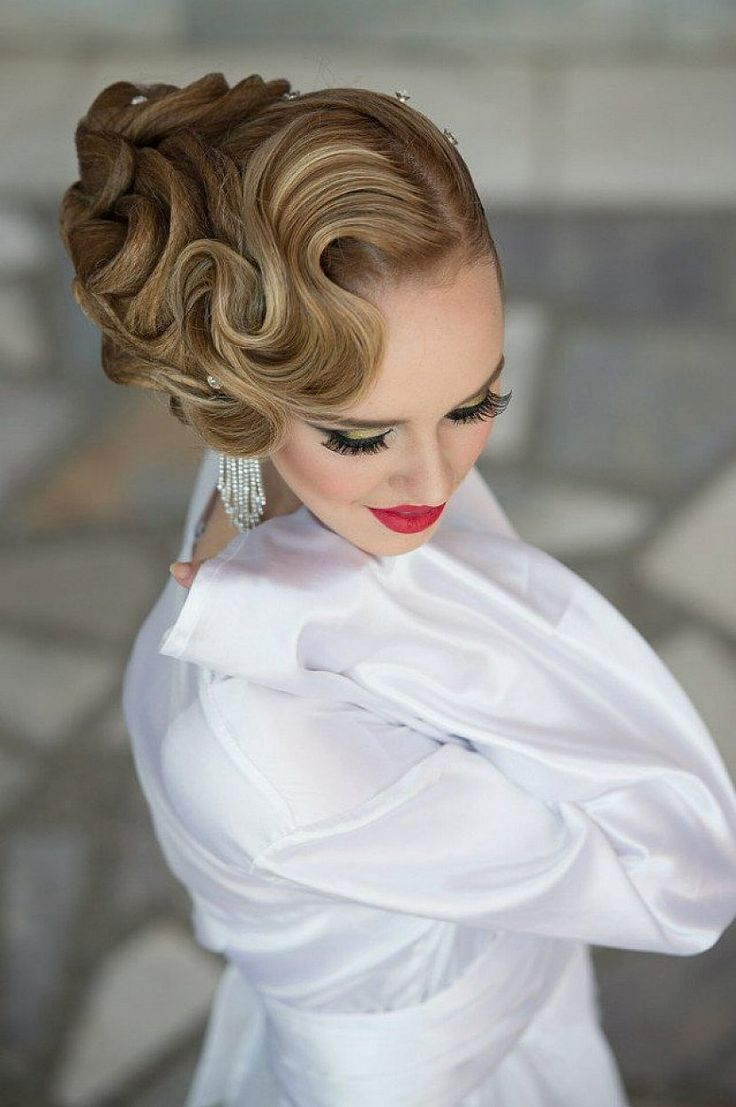 Beautiful Finger Wave Hairstyles With Updo For Long Hair