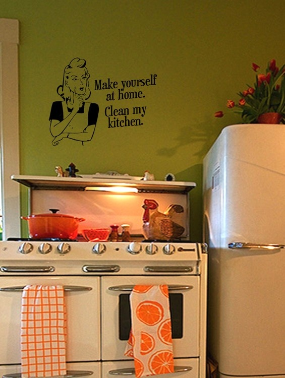 53 best images about funky kitchen wall stickers on on wall stickers for kitchen id=98211