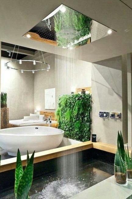 Custom shower designs are modern ideas that bring spectacular natural materials and interesting archit