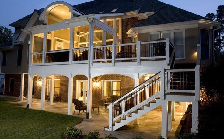 Deck over porch/patio | Home Improvement Ideas - Outdoors ... on Deck Over Patio Ideas id=57046