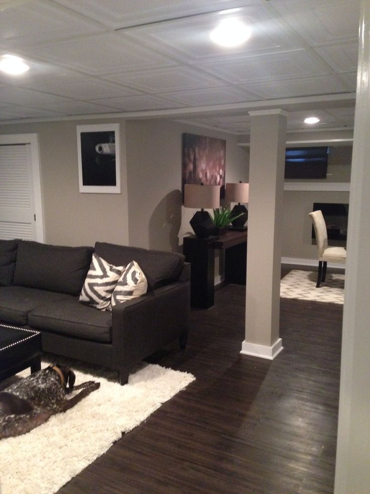 warm basement love the wood flooring for the home on basement color palette ideas id=78039
