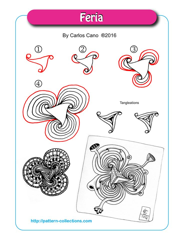 Feria By Carlos Cano Zentangle Step By Step Pinterest