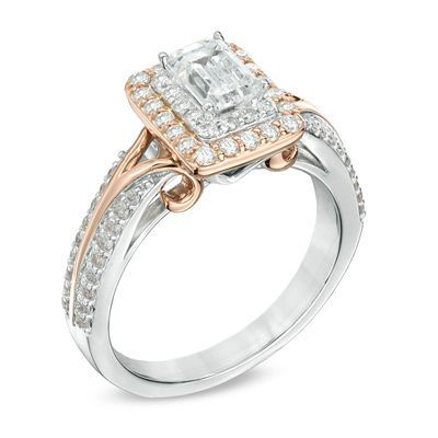 Vera Wang LOVE Collection 1 CT TW Emerald Cut Diamond