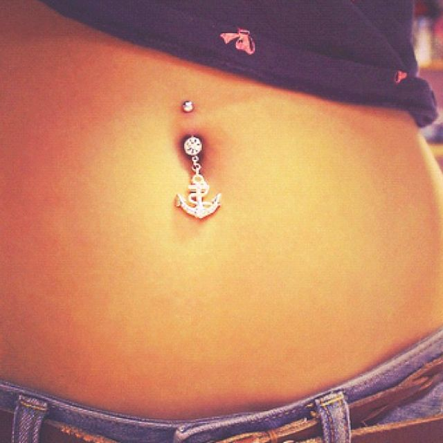 Anchor Belly Button Ring Diamonds Are A Girls Best