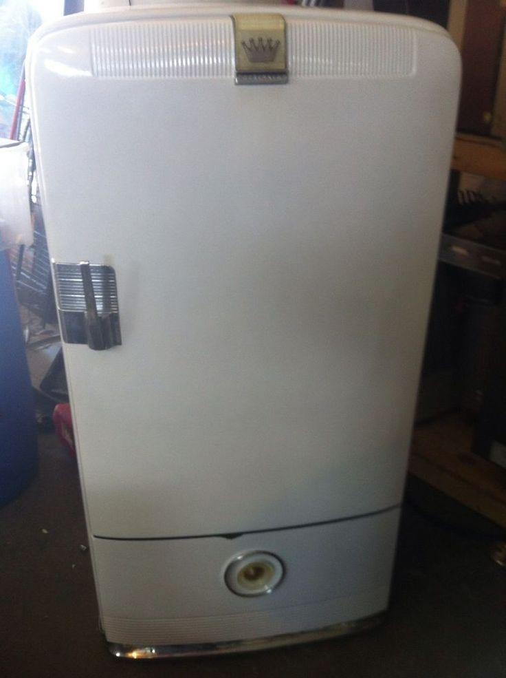 Vintage 1940s Frigidaire Refrigerator Combo Freezer Man Cave Kegerator Antiques Combo
