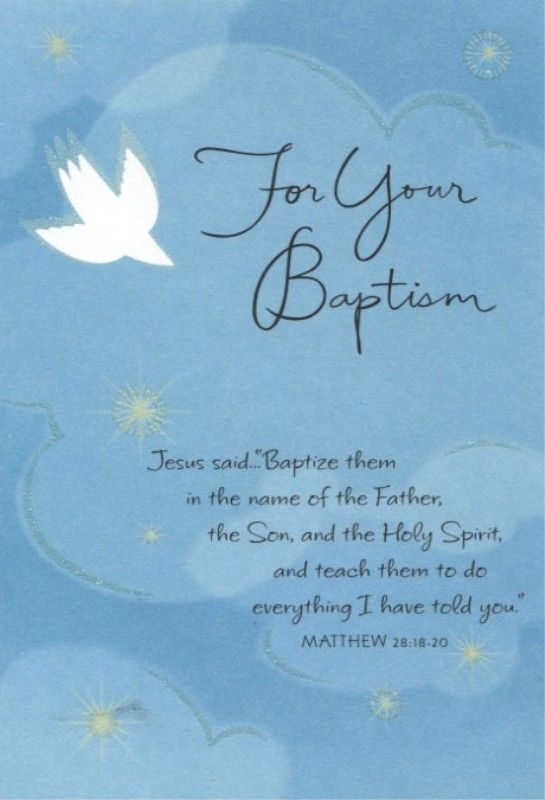 Congratulations On Your Baptism Cards Words To Live By