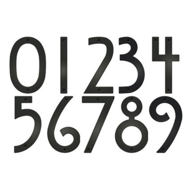 Mission Style Address Numbers
