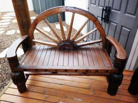 Outdoor Furniture Wagon Wheel Bench Melbourne Sydney