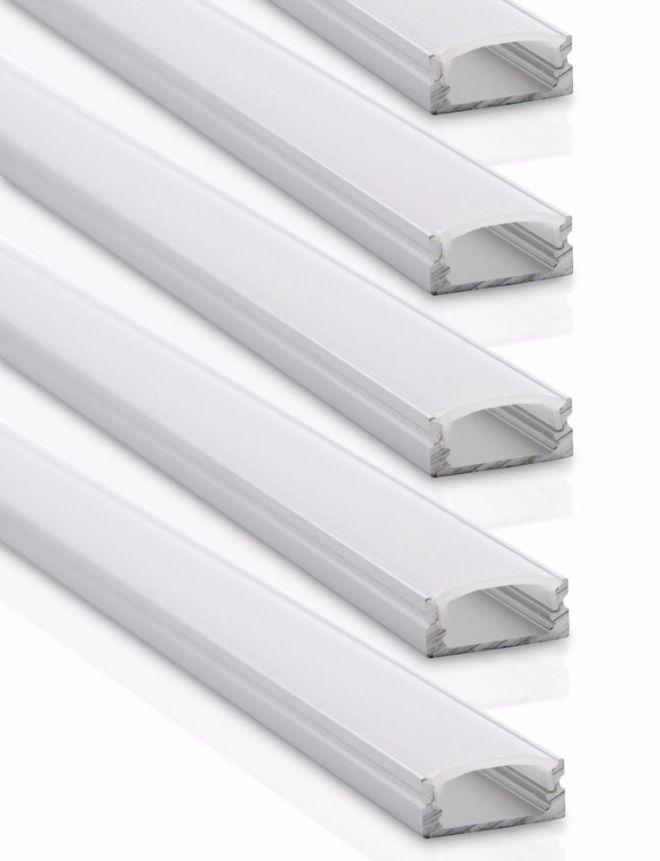 Aluminum channel system u12 for led strip lights 5