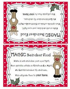 Reindeer On Pinterest Reindeer Reindeer Food And