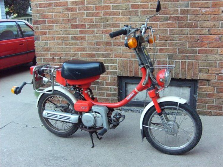 My First Two Wheeled Transport Yamaha Qt50 Moped