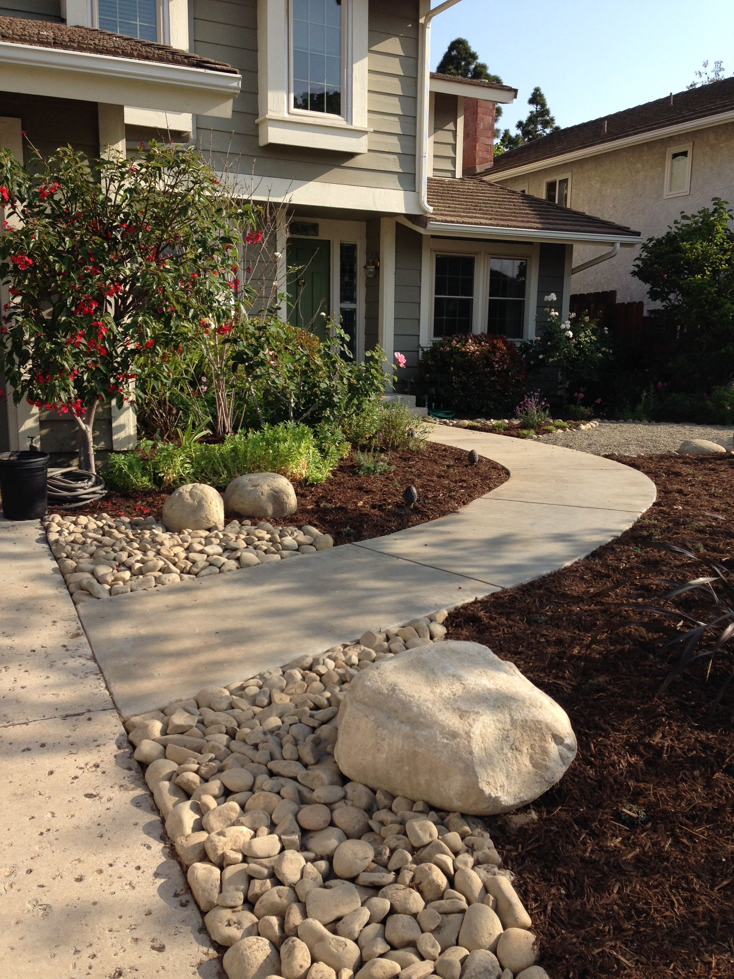 front yard...no grass...almost completed   Landscape ... on No Grass Backyard Ideas  id=20816