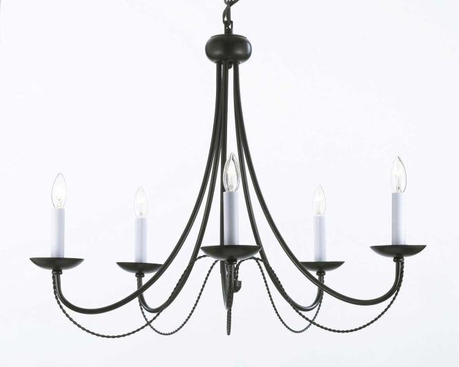 G7 403 5 Wrought Iron Chandelier Chandeliers Crystal