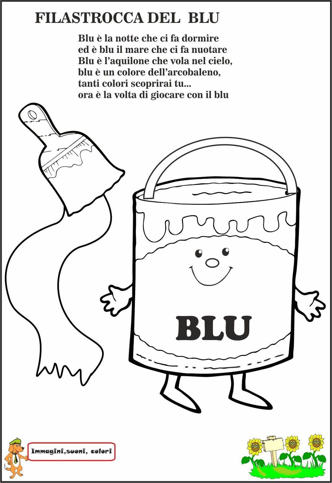 Scopriamo Il Colore Blu Prima Attraverso La Lettura Della