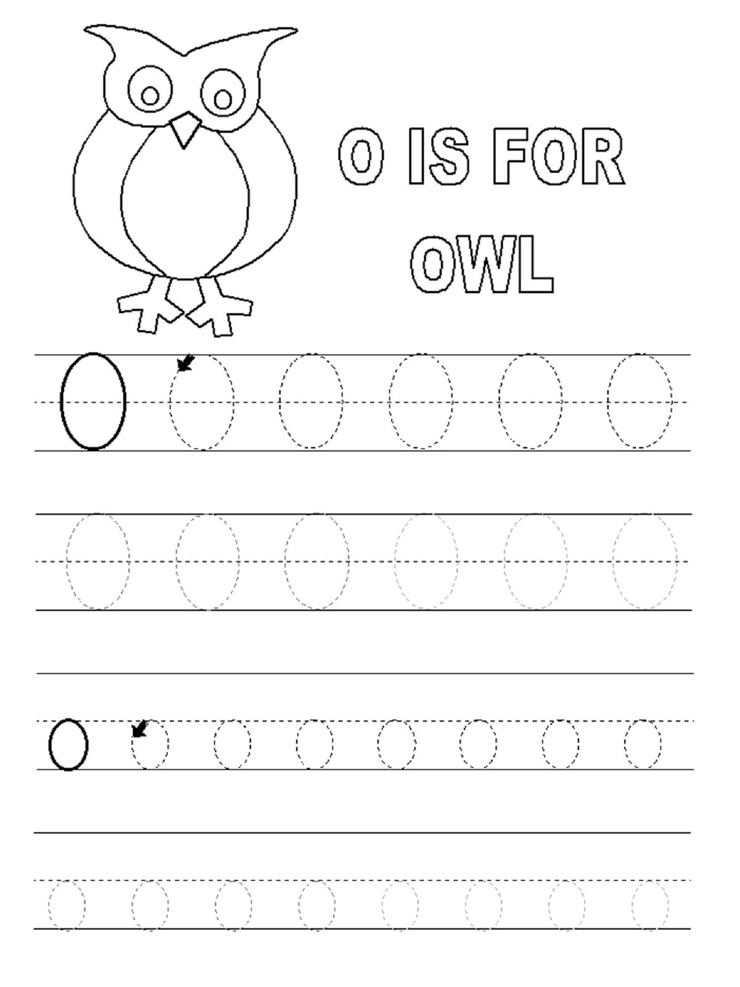 Letter O Worksheet For Alphabet Learning