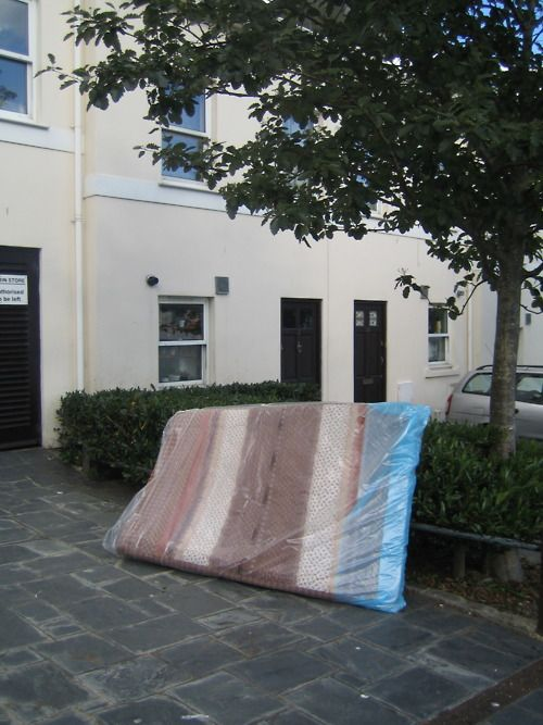 Abandoned Mattress A Slice Of Neapolitan Ice Cream In The Form Definitely Tendency For People Wring Their Old Mattresses What I
