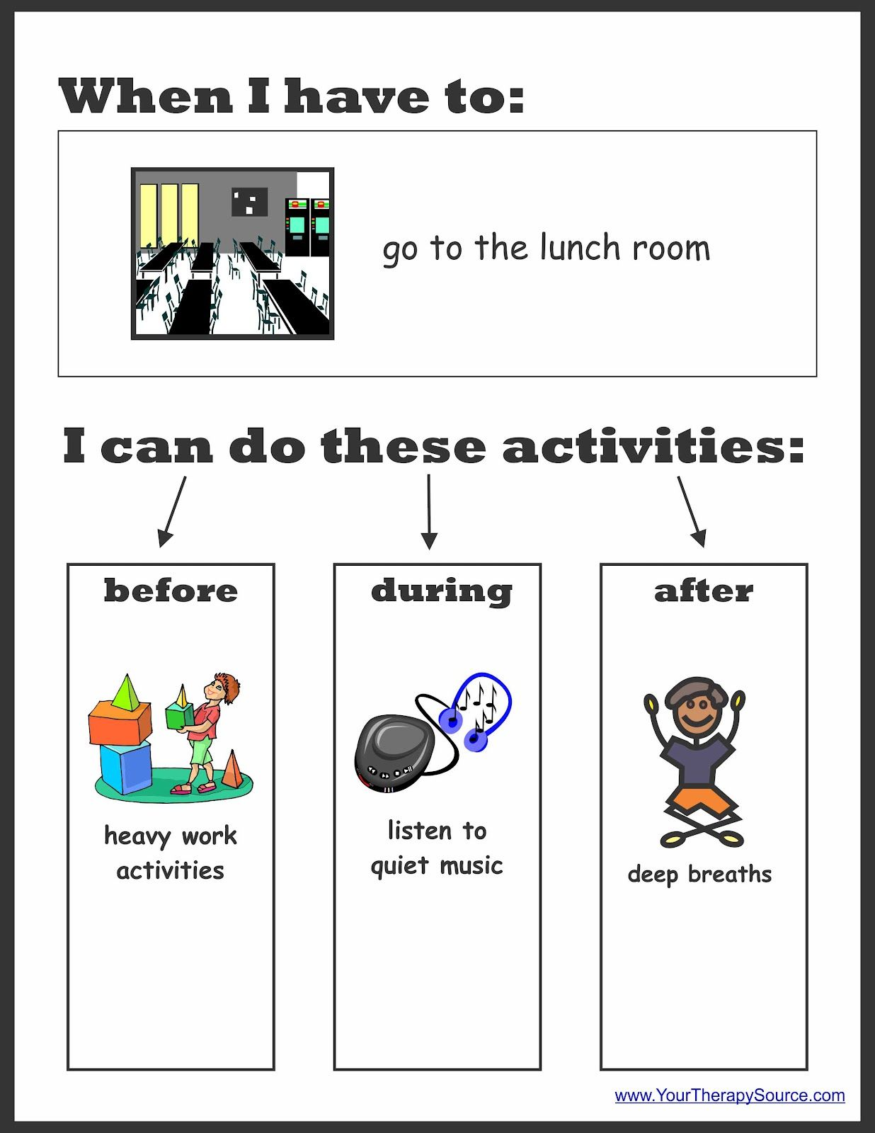 Sensory Preferences Worksheet To Determine Sensoryt Activities For Different Situations