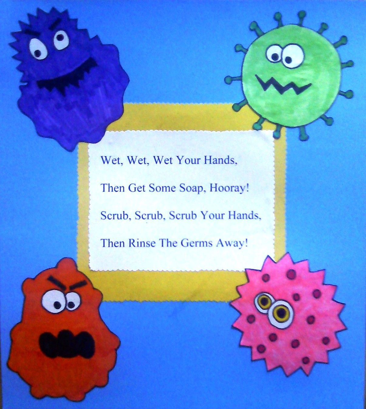 Crafts For Preschoolers Wash Those Germs Away