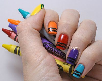 Copycat Claws Crayon Nail Art This Would Be So Cute For A Daycare Worker