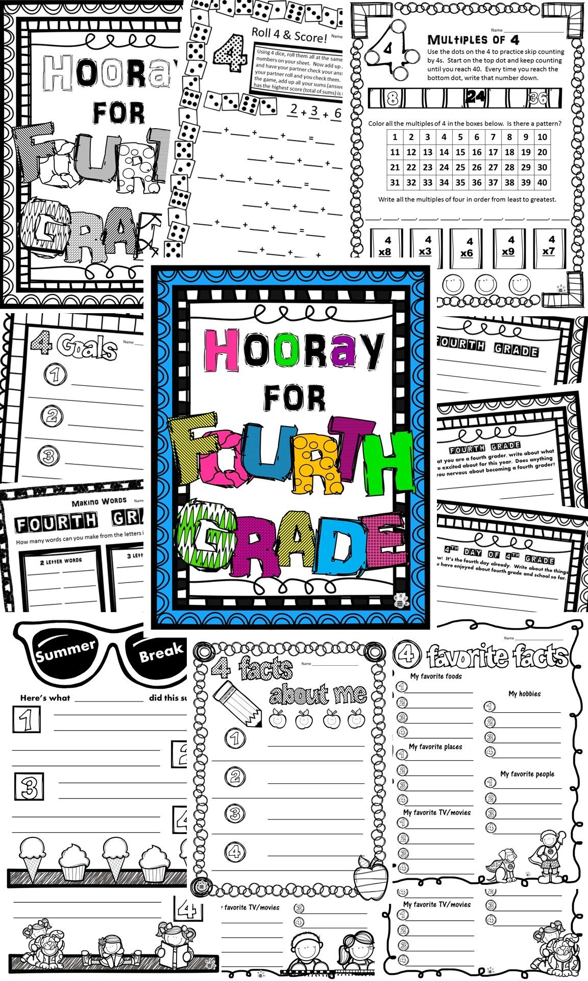 Back To School Fourth Grade First Week Day 4 Activities La Math Writing