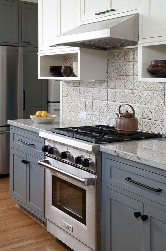 gray and white kitchen cabinet ideas kitchen with gray lower cabinets and white upper cabinets on kitchen cabinets grey and white id=78013