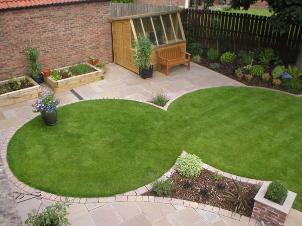 circular garden design ideas Circular lawns create space for paving for our clients in