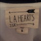 La hearts tank top white float tank top lace straps only worn once