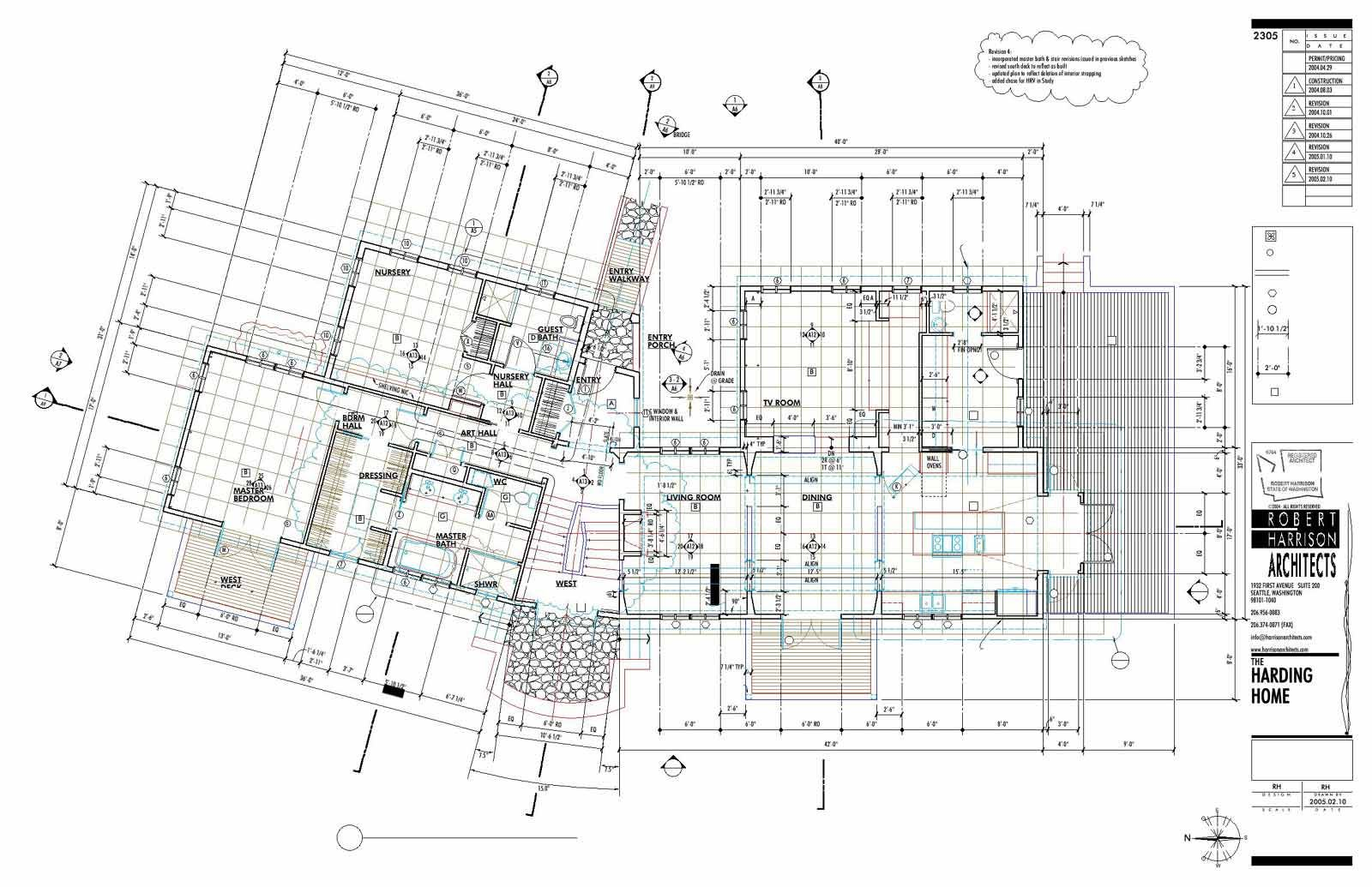 Harding Home Construction Documents Main Floor 25
