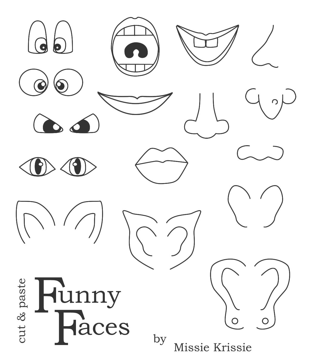 Printable Funny Face Images