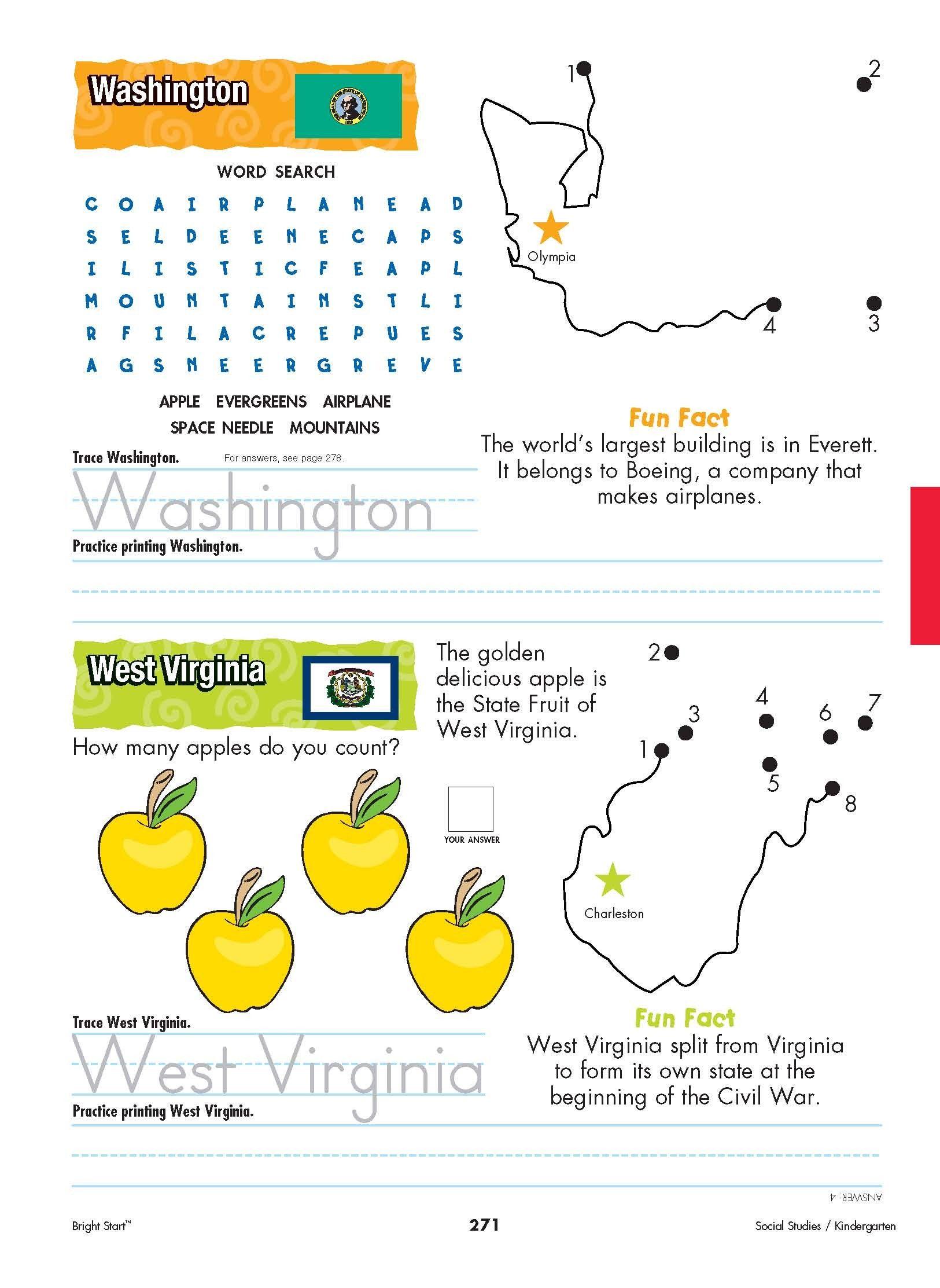 Washington And West Virginia Your Kindergartener Can