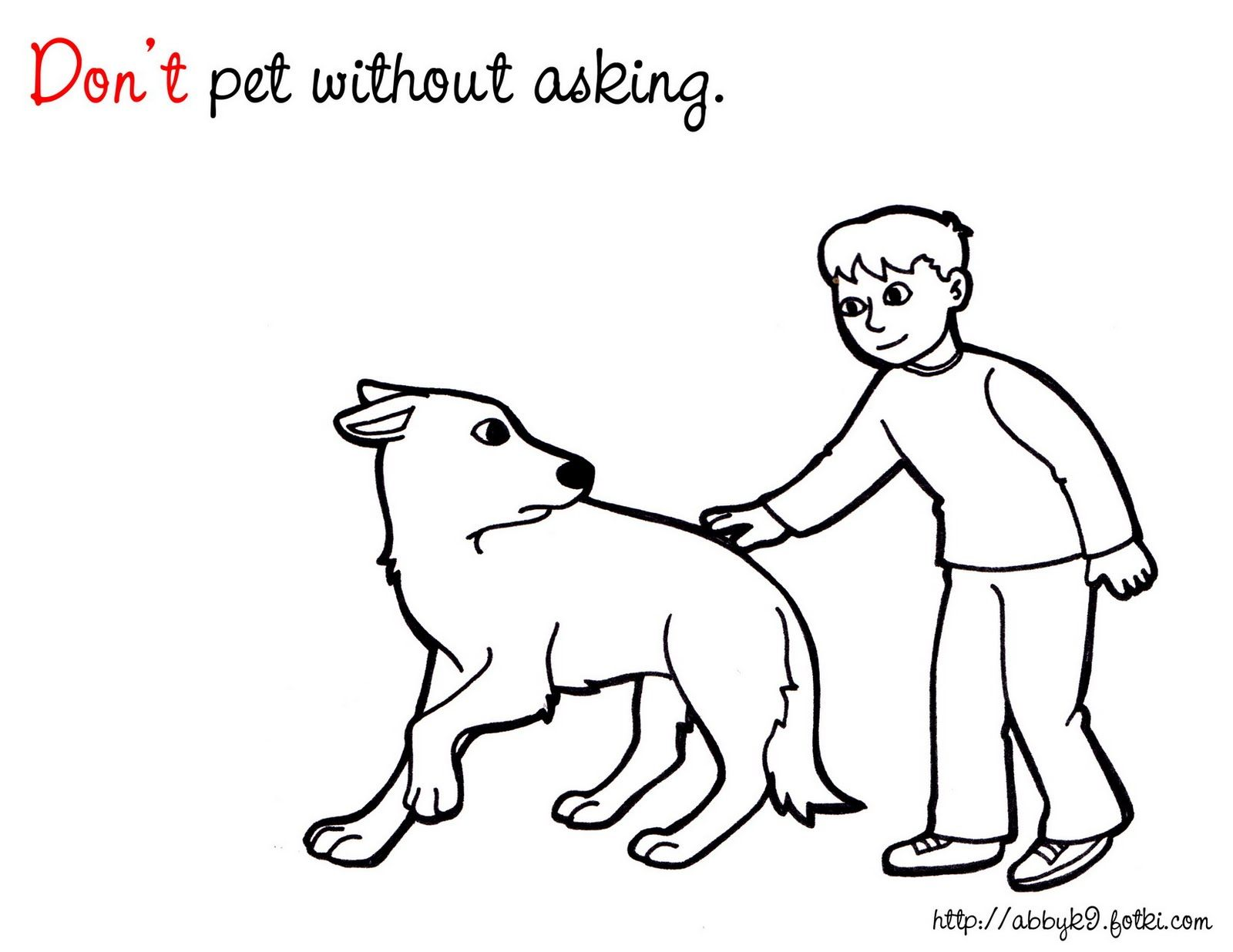 Dog Safety Coloring Pages Amp Literature For Kids