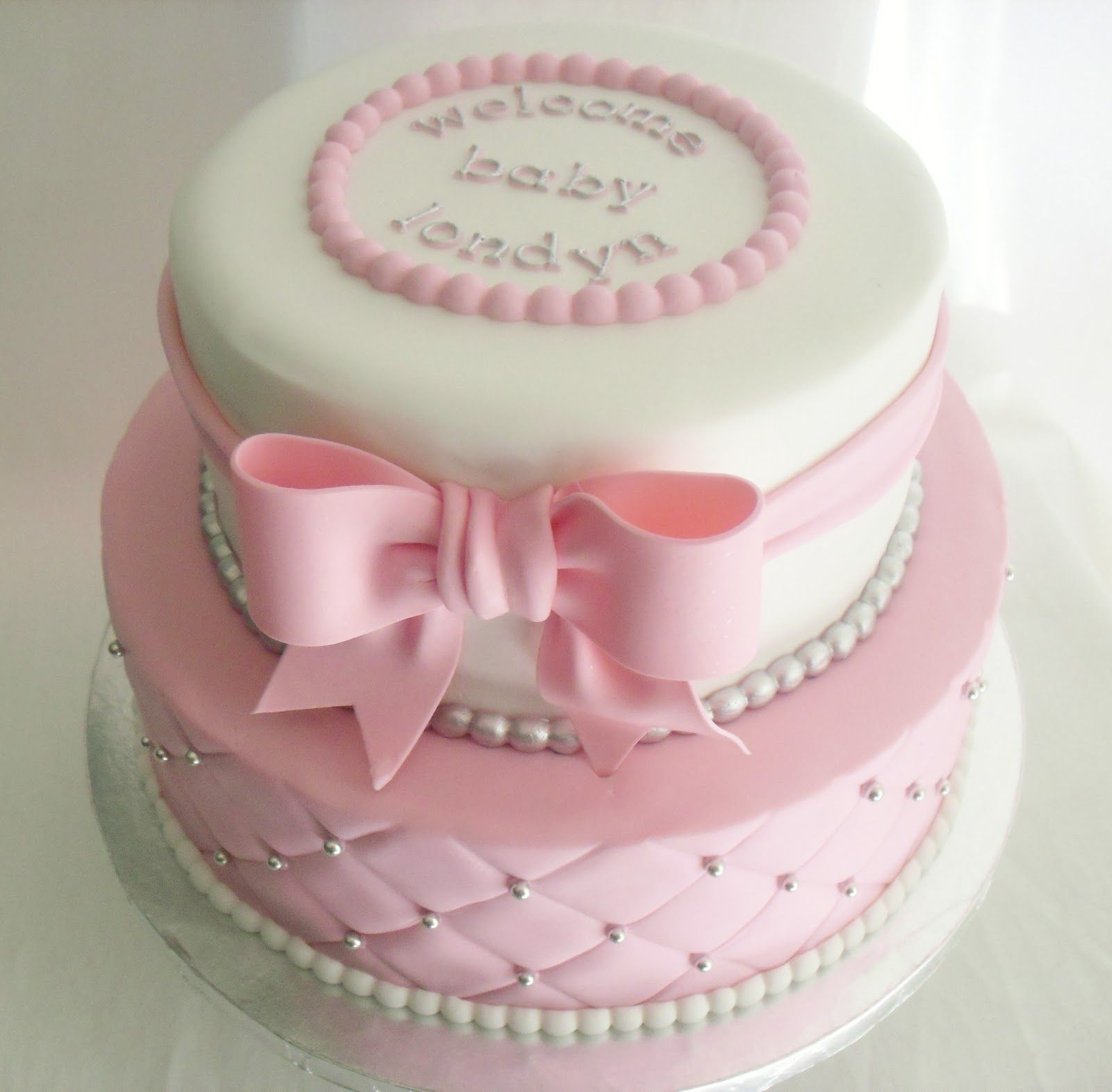 Pretty In Pink Cake Perfect For A Girl S Baby Shower