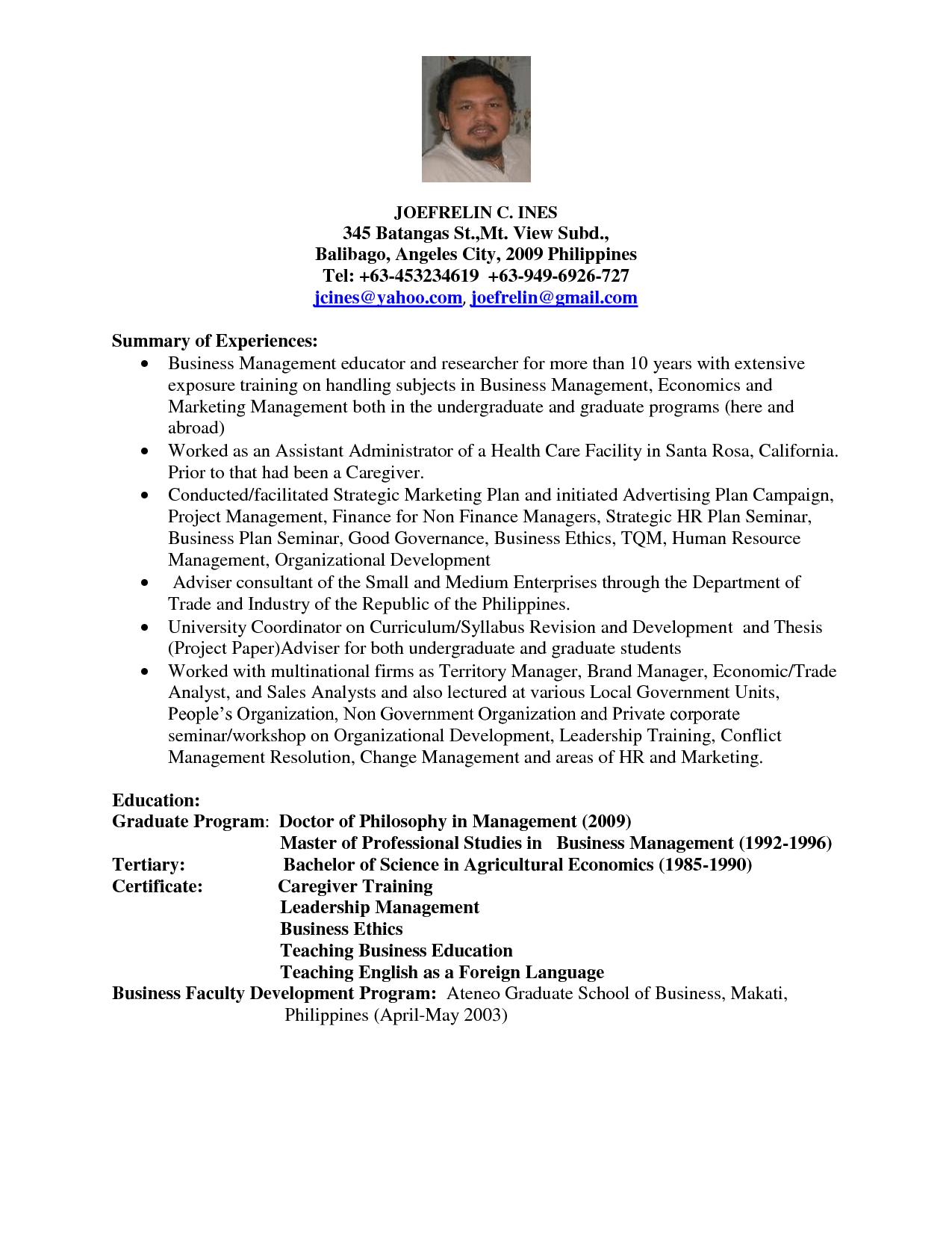 Sample Resume Undergraduate Nursing Student