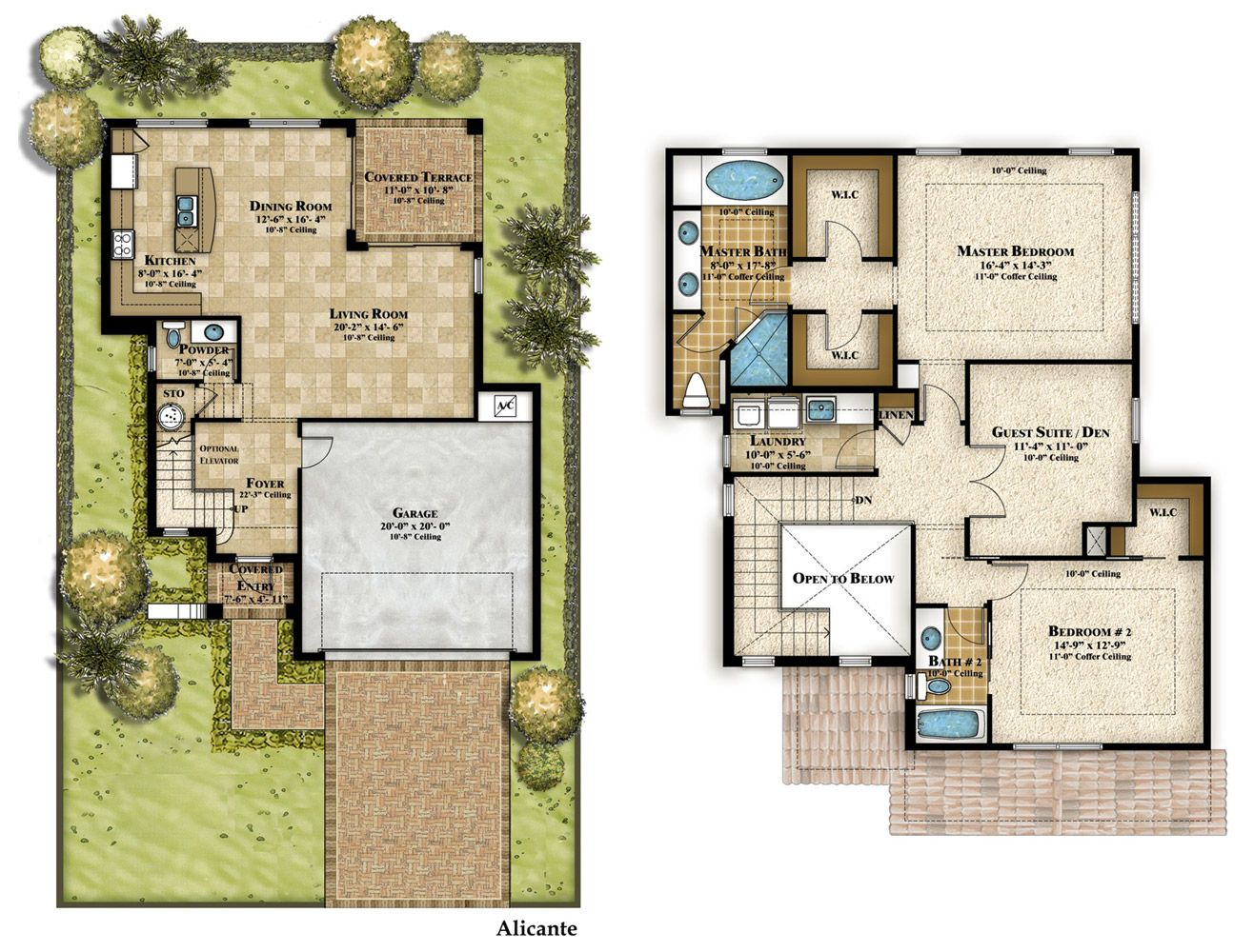 Two Story House Plans 3d - Google Search
