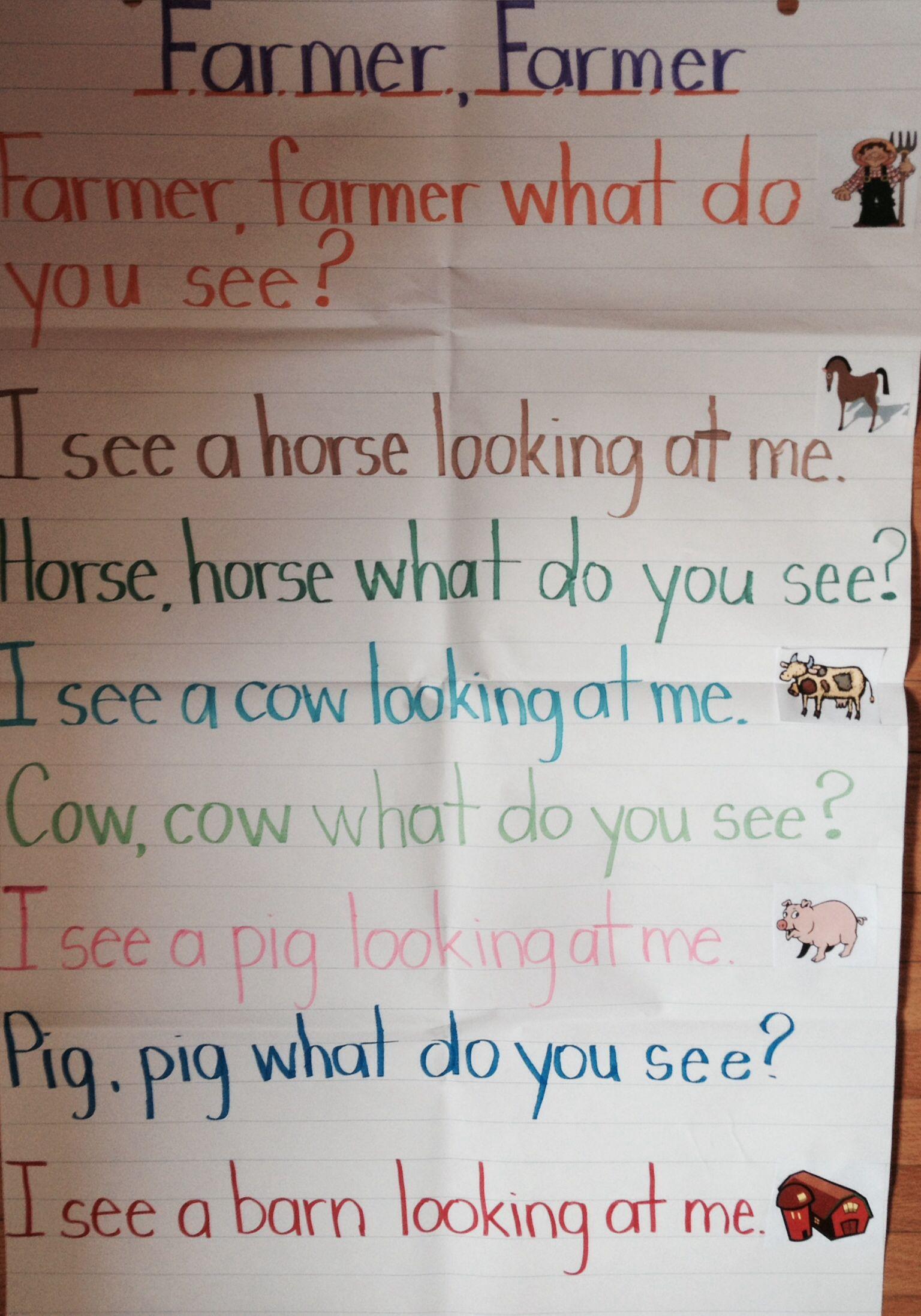 Farm Poem Kindergarten