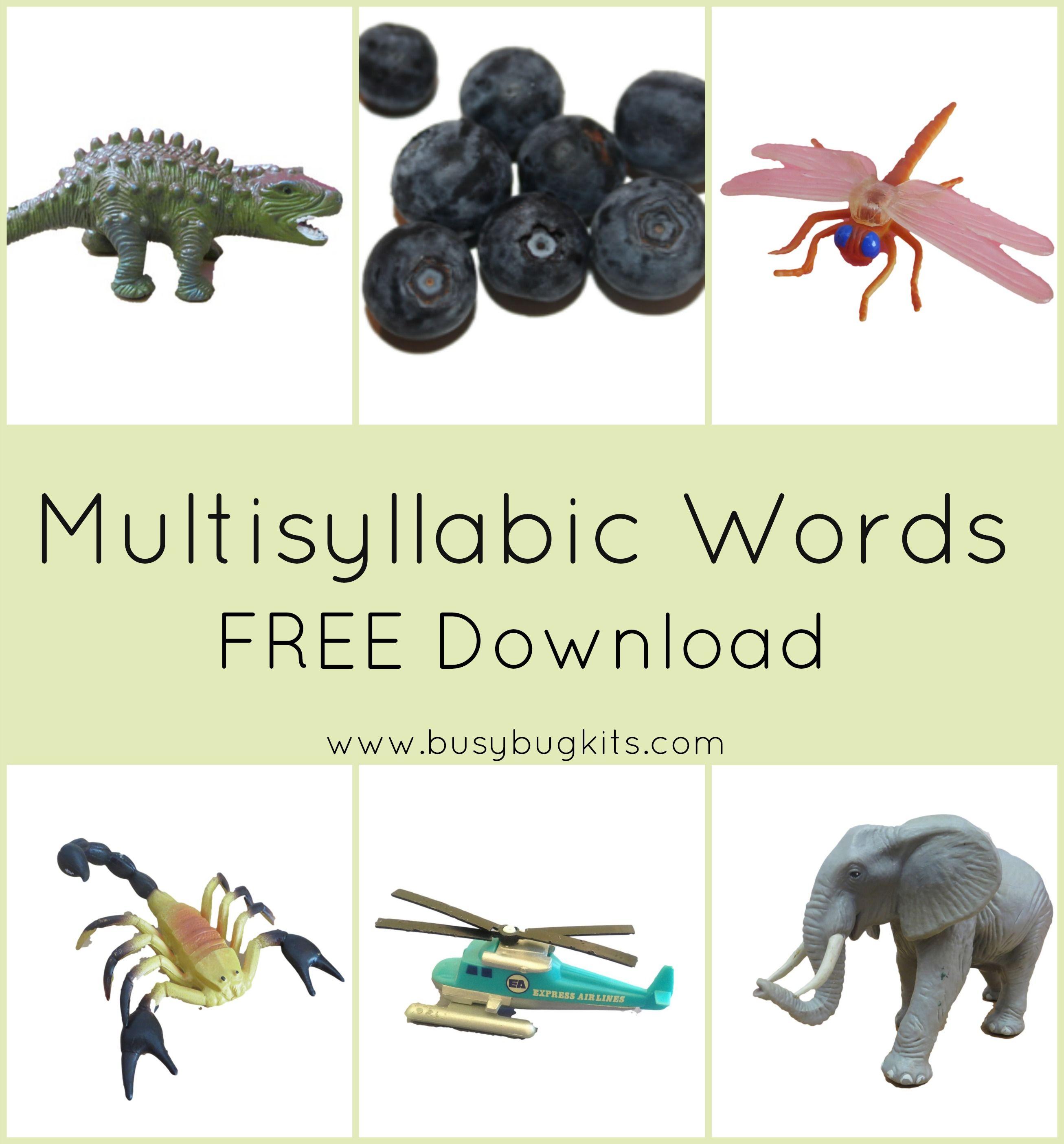 3rd Grade Multisyllabic Word List Printable