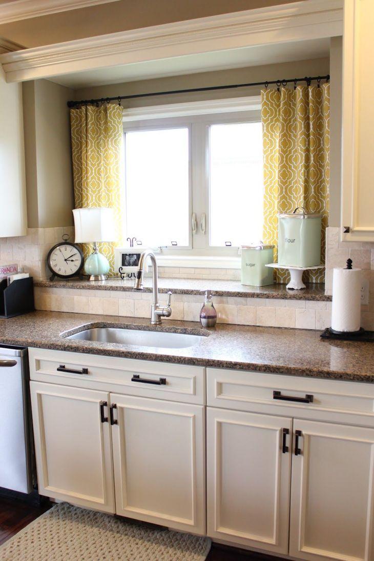 Nifty Kitchen Window Treatment Idea also LOVE the double window