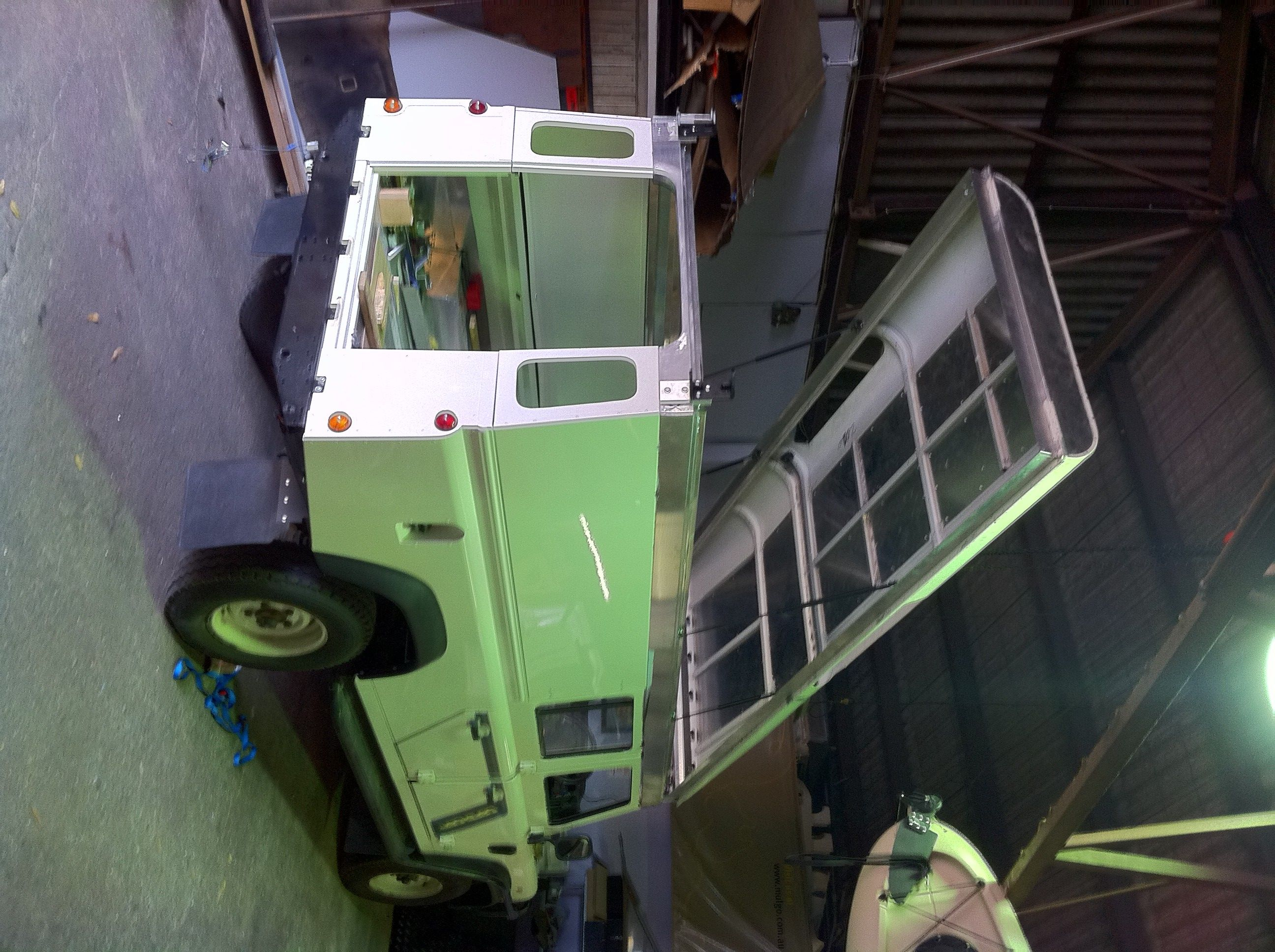 Land Rover Defender 130 Station Wagon with Pop Top built