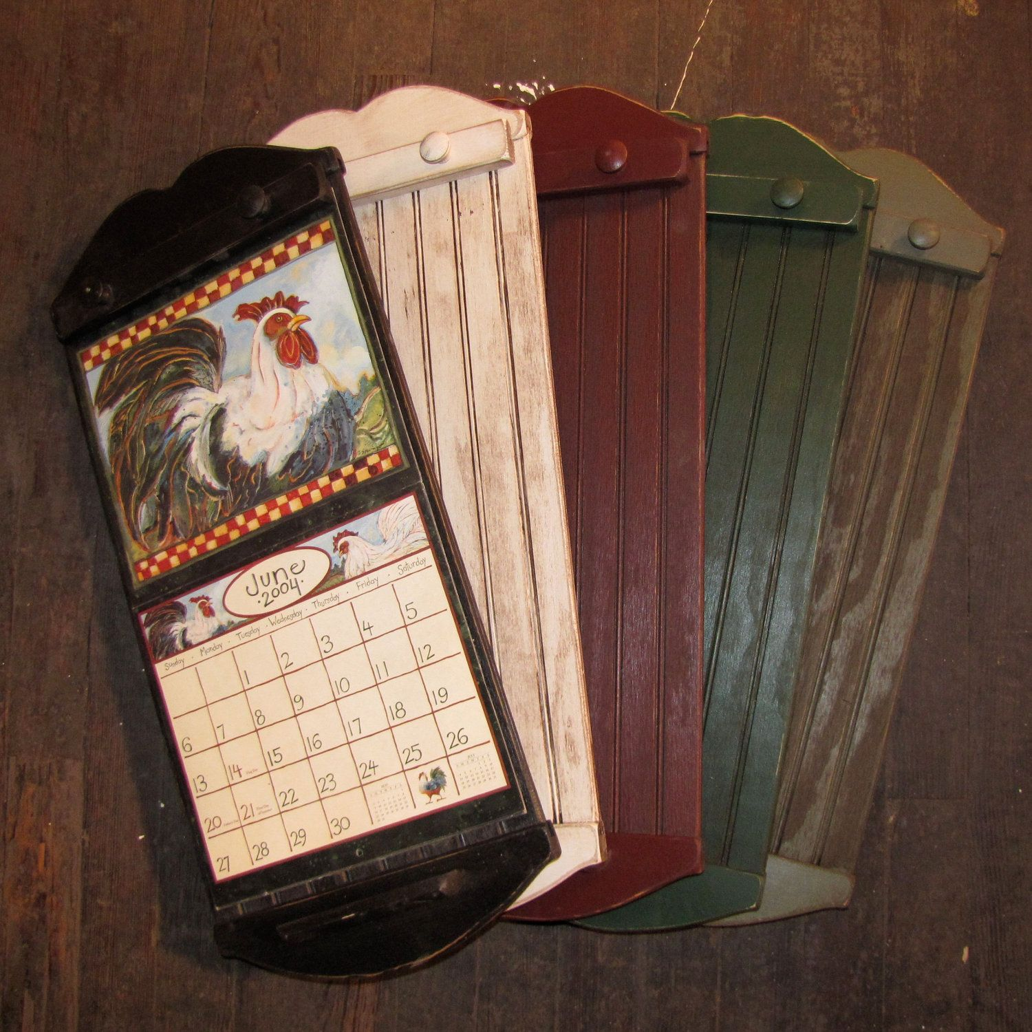 Rustic Style Calendar Holder Color Choice FREE SHIPPING 3799 Via Etsy Christmas Gift