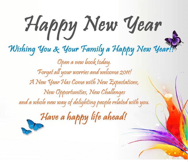 Happy New Year Words Greetings – Merry Christmas And Happy New Year 2018