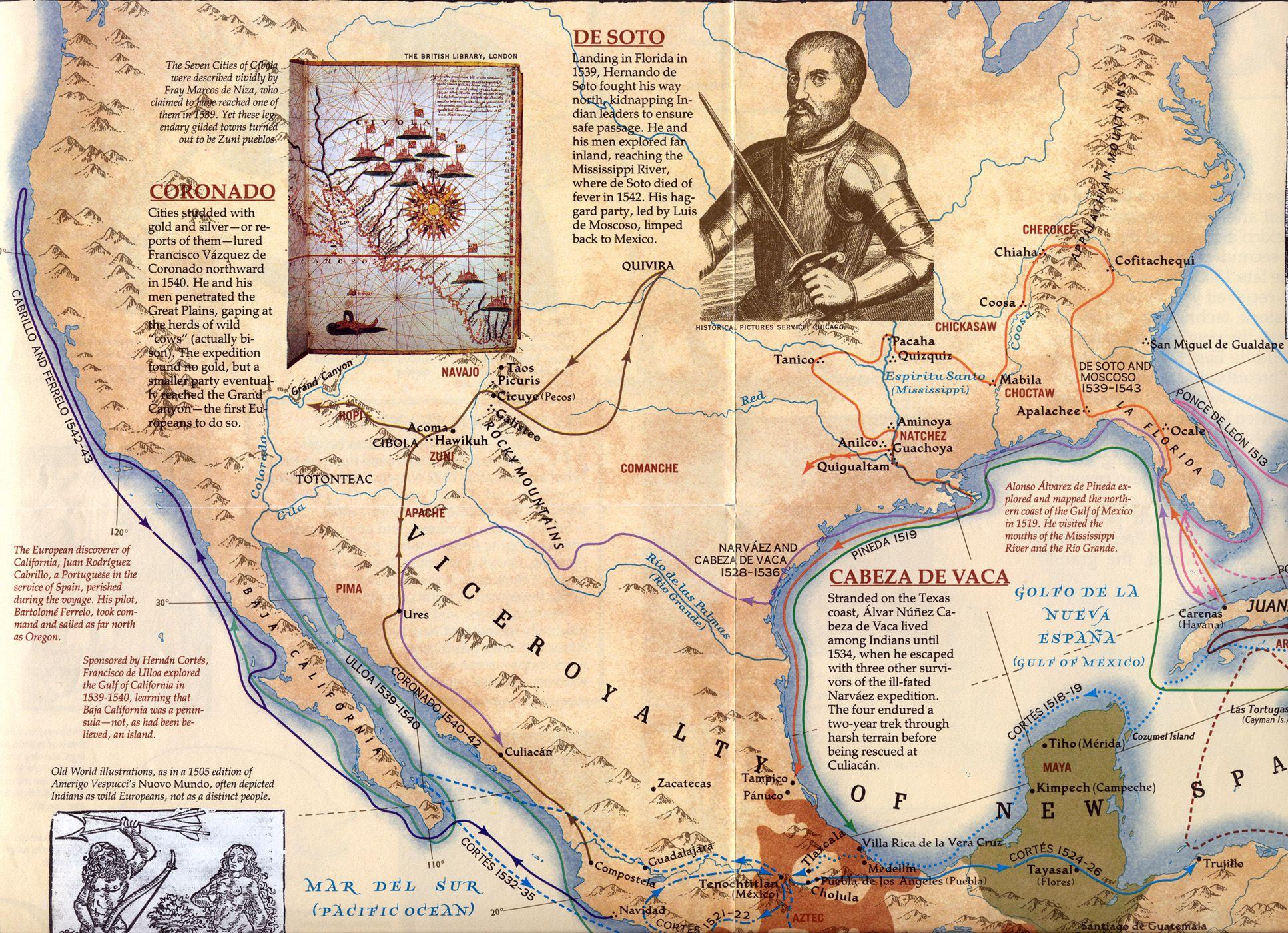 Spanish Explorers Of North America