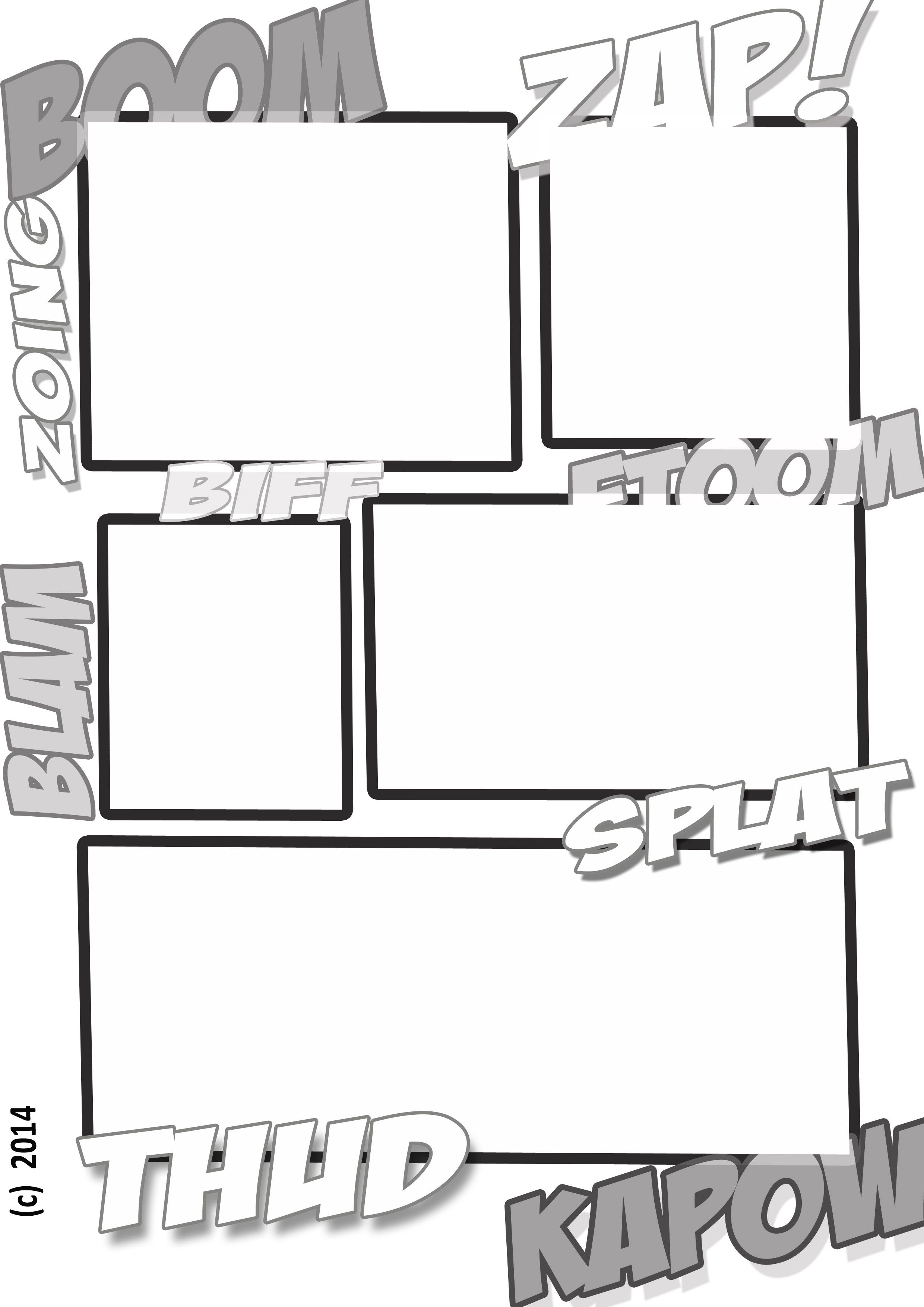 A Fun Comic Book Style Template For Kids To Create Their