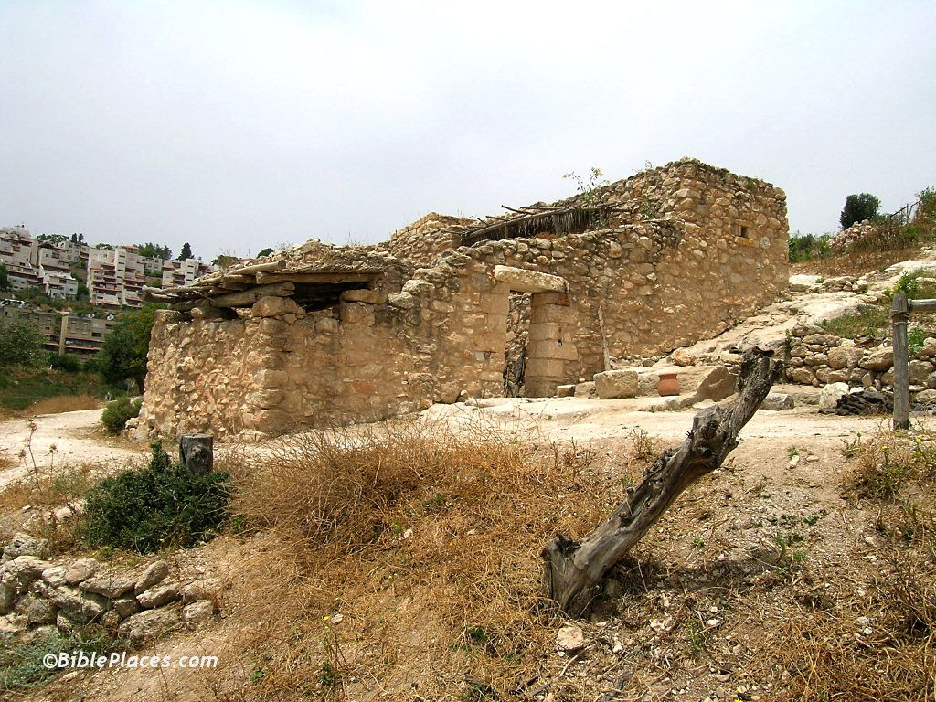 Ancient house in nazareth village did mary and joseph