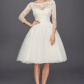 short wedding dresses for any ceremony style short wedding