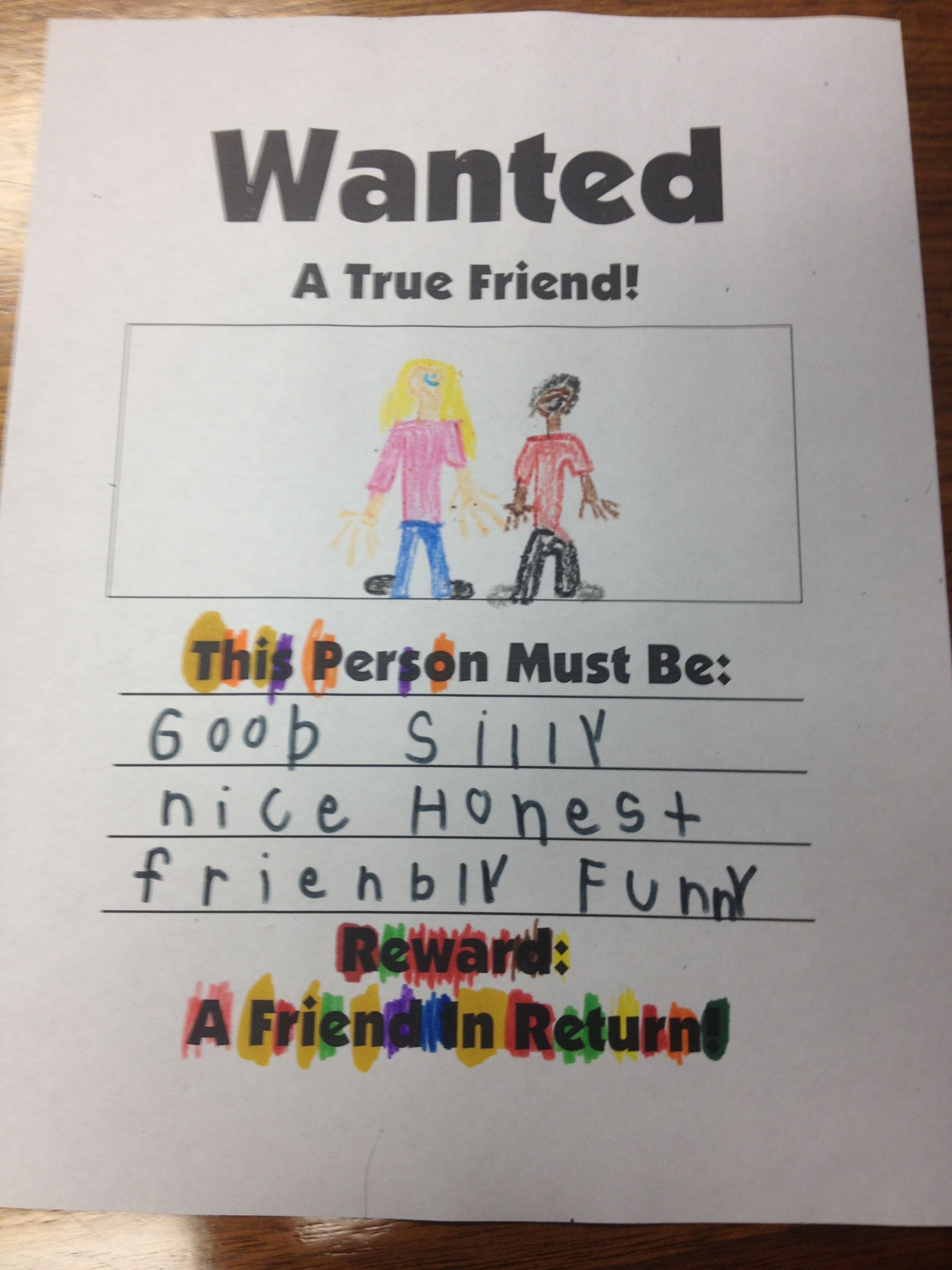 Social Skills Wanted Posters