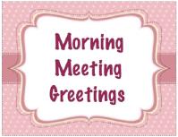 halloween greetings morning meeting