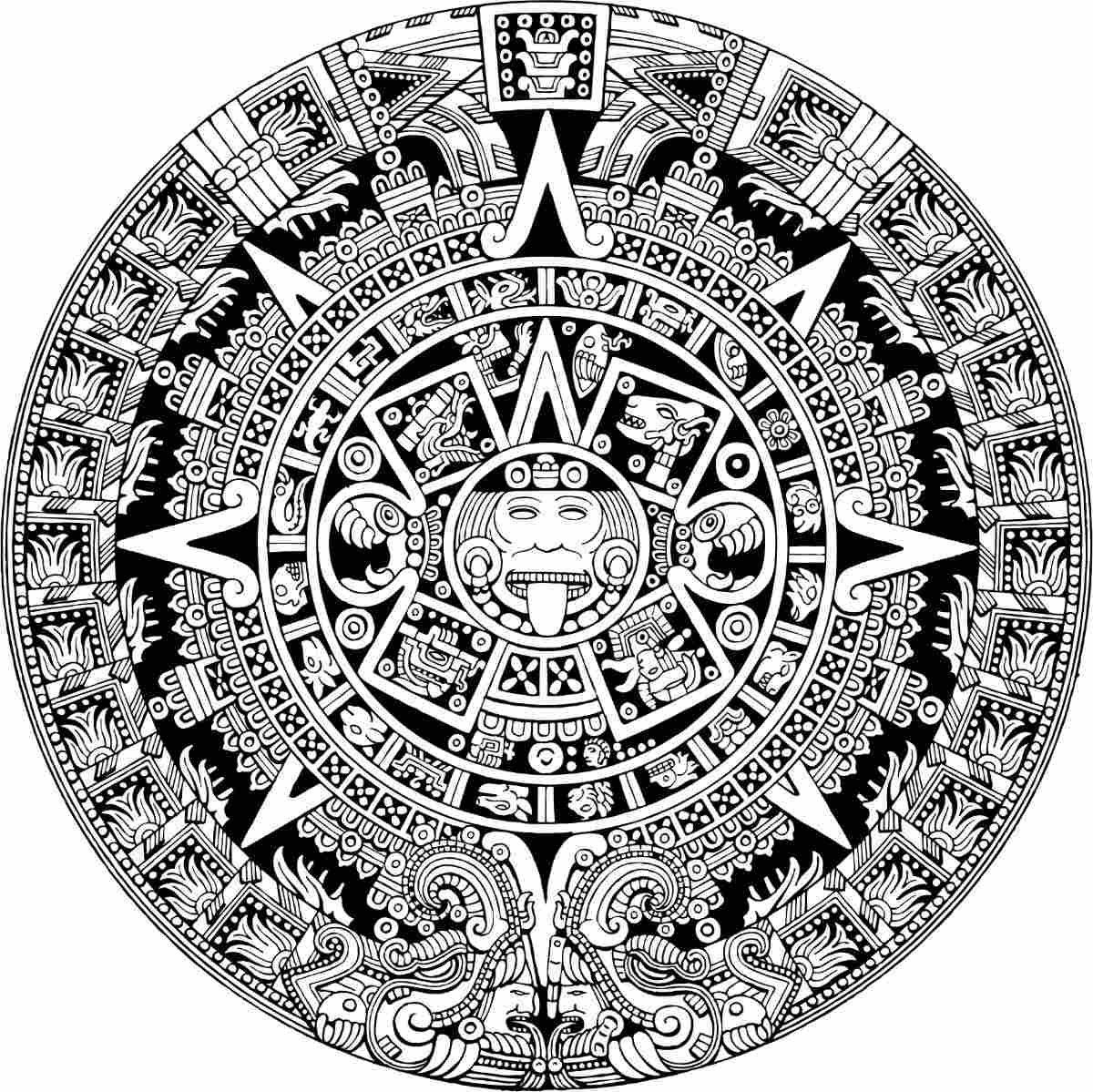 Vector Maya Vector Azteca Calendario Vectores Corte Vinil