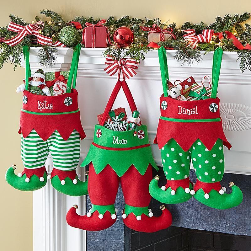 Jingle Bell Elf Pants Personalized Stocking Jingle Bells